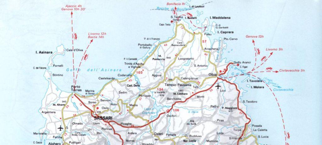 map sardinia north
