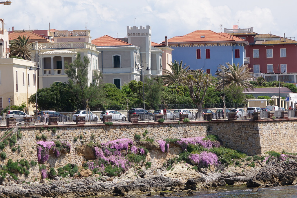 image of the old city of Alghero Italy sardinia