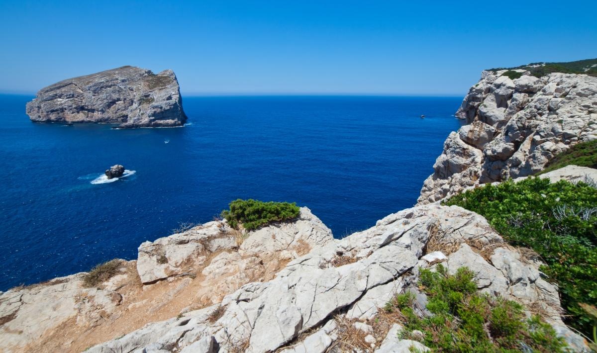 image of sea and rocks of Capo Caccia - Piana Protected Area in Alghero