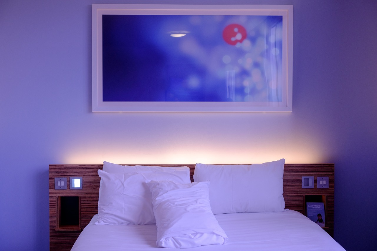 pictures of an hotel bedrooom in an article about travel tips and electricity in alghero italy sardinia
