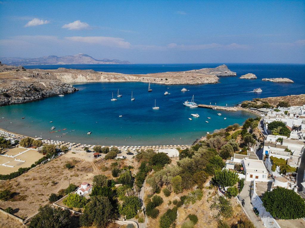 landscape of Lindos, Rhodes, Greece
