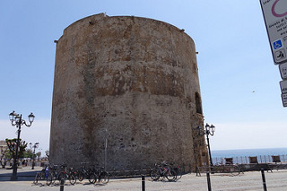 image of one of the towers in Alghero Sardinia Italy