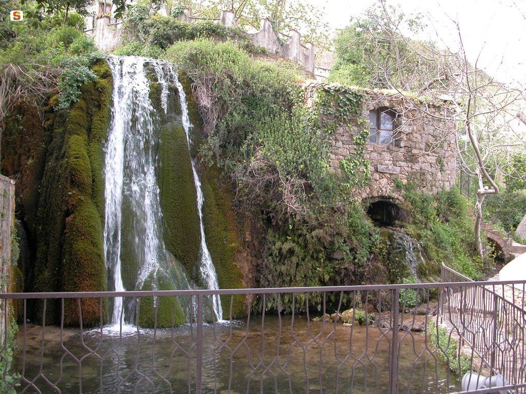 Immagine della cascata di San Valentino a Sadali, Sardegna