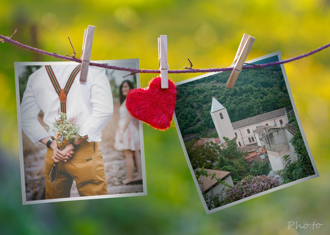 collage di foto di Sadali il paese di San Valentino in Sardegna