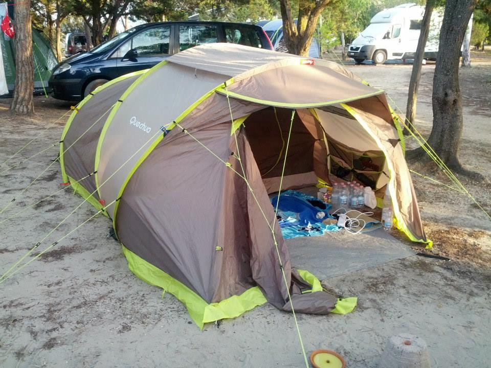 tent at cala ginepro camping in orosei