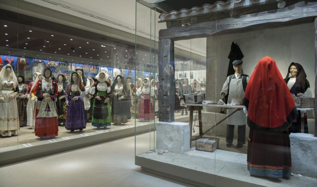 traditional sardinian dresses at Nuoro Folk Museum