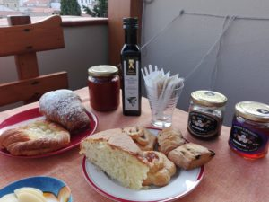 Sardinian food for breakfast at Da Zietto B&B Cala Gonone Dorgali