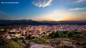 landscape of Sardinia by night