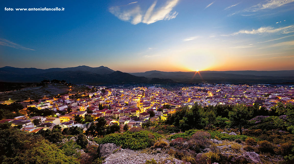 landscape of Sardinia by night