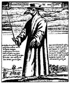 uomo con maschera della peste