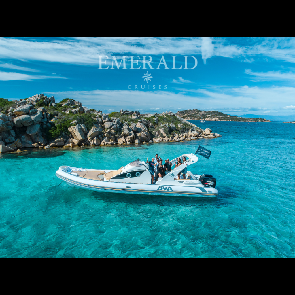 presentation of Emerald Cruises tour boat at La Maddalena islands