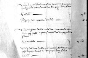 documento medievale sulla villa di sent steva in gallura sardegna