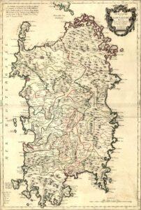 carta della sardegna del tardo 700 firmata da Le Rouge
