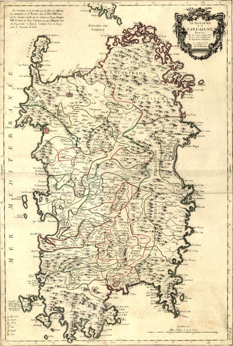 Cartina Sardegna Fiumi.Carte Geografiche Storiche Della Sardegna Le Mappe Dei Nostri Avi